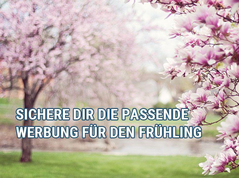 Frische Werbung für den Frühling