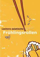 Leckere Frühlingsrollen Poster | Plakat für Werbeaufsteller