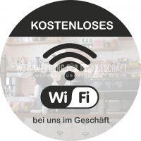 Rund | Kostenloses WIFI Plakat | Werbeplakat für Geschäfte | Rundformat