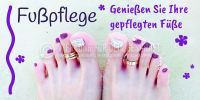 2:1 | Fußpflege Poster | Genießen Sie Ihre gepflegten Füße | 2 zu 1 Format
