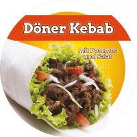 Rund | Döner Kebab Menü Werbeplakat | Poster | Rundformat