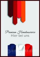 Premium Hemdenservice Plakat | Werbe- Plakat für Herrenausstatter