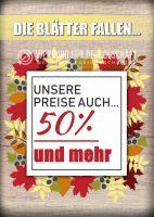 Die Blätter fallen Poster | Werbetafel für Geschäfte