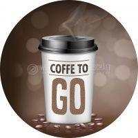 Rund | Coffee to go Werbeschild | Poster | Rundformat