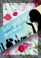 Sehr gepflegt in den Frühling Werbelakat | Banner für dein Kosmetikstudio