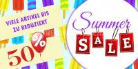 2:1 | Summer Sale Plakat | Viele Artikel reduziert | 2 zu 1 Format