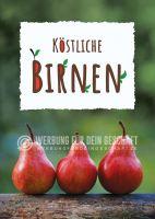 Köstliche Birnen Werbeschild | Werbung für Plakatständer