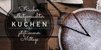 2:1 | Frischer selbstgemachter Kuchen Plakat | Werbeplakat für Bäckerei | 2 zu 1 Format