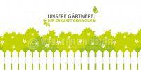 2:1 | Unsere Gärtnerei Plakat | Werbeschild für Gärtnerei | 2 zu 1 Format