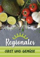Regionales Obst und Gemüse Poster | Werbetafel Obst und Gemüse