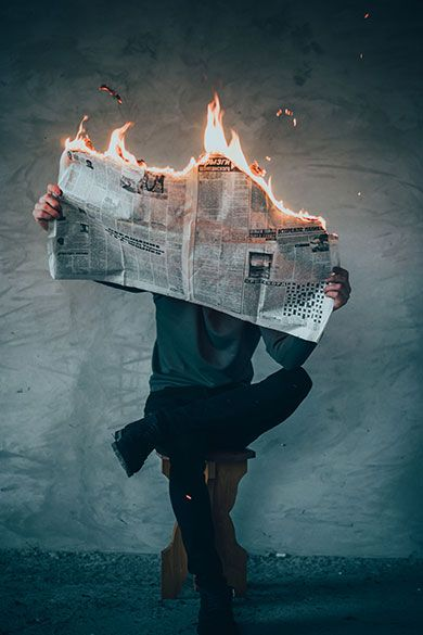 Es gibt mit der Zeit immer weniger Zeitungsleser