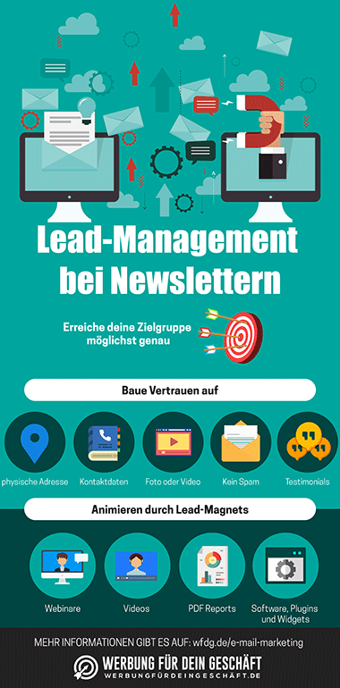 Lead-Management bei Newslettern Infografik