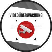 Rund | Videoüberwachung Aufkleber | Plakat für Werbeaufsteller | Rundformat