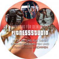 Rund | Fitnessstudio Plakat | Werbetafel für Fitnessstudio | Rundformat