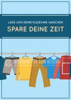 Lass uns deine Kleidung waschen Poster   Werbeplakat für Reinigung