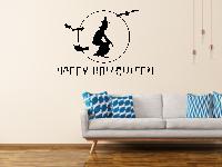 Happy Halloween mit Hexe Wandtattoo