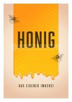 Honig aus eigener Imkerei Werbebanner   Plakat erstellen