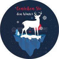 Rund | Genießen Sie den Winter Werbetafel | Poster kaufen | Rundformat