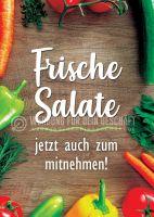 Frische Salate Poster | Werbetafel für dein Geschäft